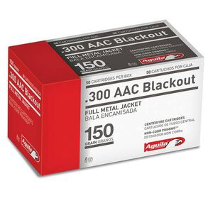 Aguila Centerfire Rifle .300 AAC Blackout Ammunition 50 Rounds 150 Grain Full Metal Jacket 1900 fps
