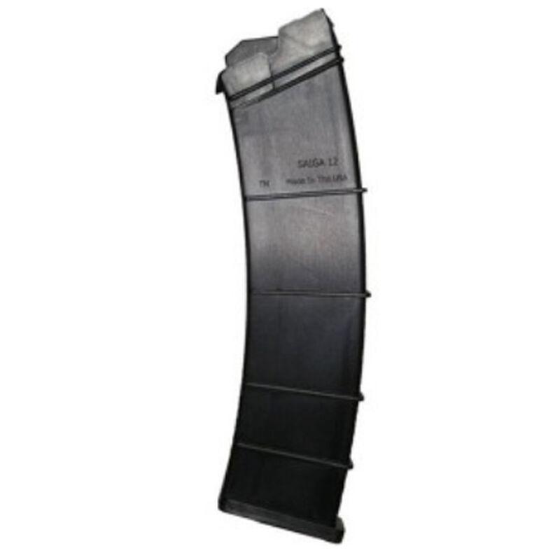"SGM Tactical SAIGA Shotgun 12 Round Magazine 12 Gauge 2-3/4"" Shells Only Polymer Matte Black"