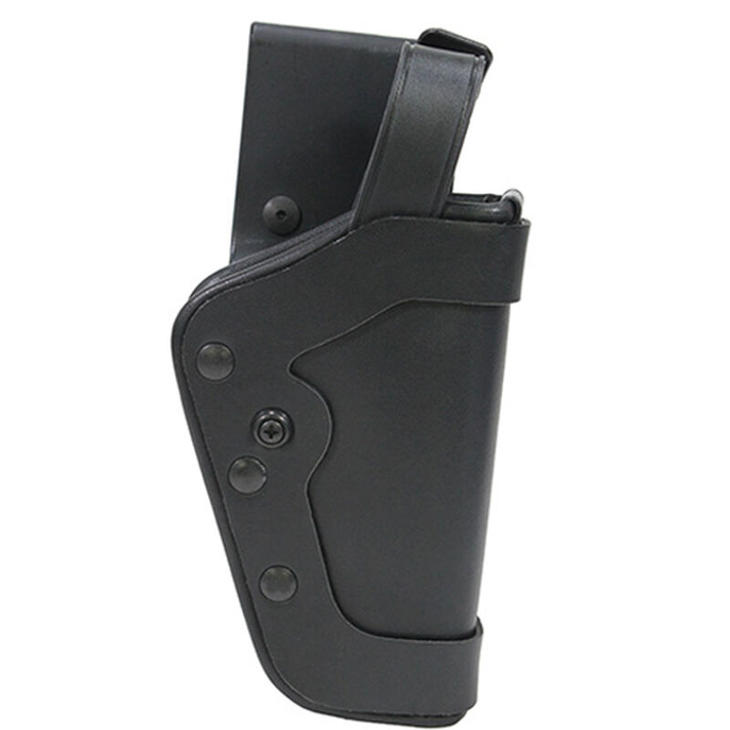 """Uncle Mike's PRO-3 Beretta 9/40, S&W 10mm, .45 5"""" Barrel Duty Holster Right Hand Size 20 Mirage Plain Black 35203"""