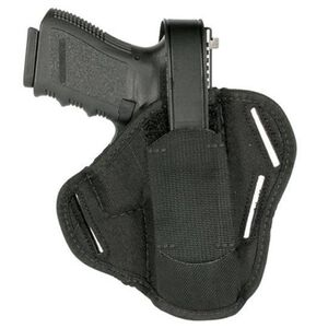 "BLACKHAWK! Ambidextrous Pancake Holster 4.5 to 5"" Barrels Large Autos Black"
