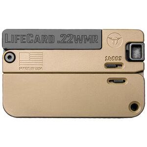 "Trailblazer Firearms LifeCard .22 WMR Break Action Handgun 2.5"" Barrel 1 Round Anodized Aluminum Tan Finish"