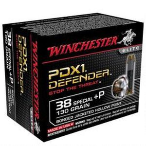 Winchester Defender .38 Special +P Ammunition 20 Rounds, JHP, 130 Grains