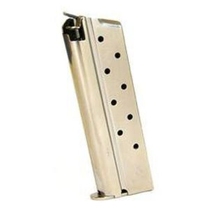 Mec-Gar 1911 Magazine .38 Super 9 Rounds Steel Nickel MGCGOV38N