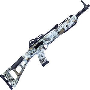 "Hi-Point Carbine .45 ACP Semi Auto Rifle 17.5"" Barrel 9 Rounds MWM Winter Camo Polymer Skeletonized Stock Black Finish"
