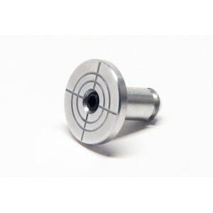 LongShot Round Bullseye Engraved Oversized Magazine Release Button for Hi-Point TS Models Brushed Aluminum
