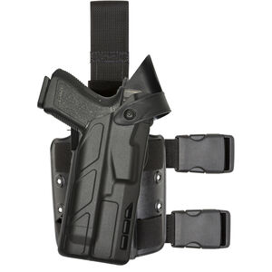 Safariland 7304 7TS ALS Level III Tactical Holster for GLOCK 17, 34 with Light Right Hand STX Plain Finish Black