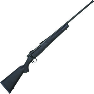 """Mossberg Patriot Synthetic 7mm Rem Mag Bolt Action Rifle 24"""" Threaded Barrel 3 Rounds Synthetic Stock Matte Blued Finish"""