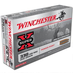 Winchester .338 Winchester Magnum Ammunition 200 Rounds Super X JSP 200 Grains