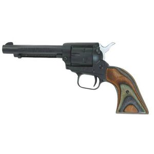 "Heritage Manufacturing Rough Rider Revolver .22 Caliber 4.75"" Barrel 6 Rounds Green Camo Wood Grip Black Satin Finish RR22MBS4"