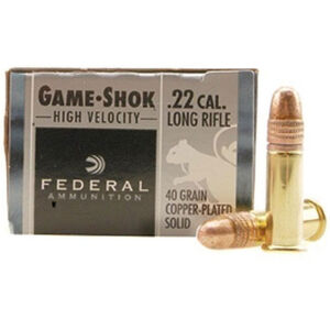 Federal Game-Shok .22LR Ammunition 40 Grain Plated Round Nose 1240 fps
