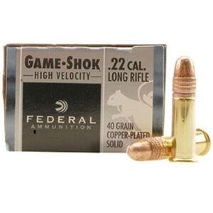 Federal Game-Shok .22LR Ammunition 40 Grain Plated Round Nose 1240 fps