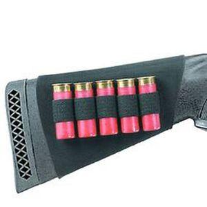 Neoprene Shotgun Buttstock Shell Holder Holds 5 Shells Black