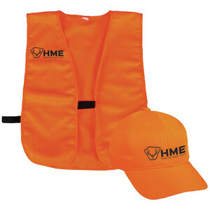 Hunting Made Easy Safety Vest & Hat One-Size-Fits-Most Orange