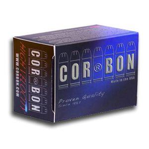 Cor-Bon 9mm Luger +P 125gr JHP 1250fps Brass 20 Round