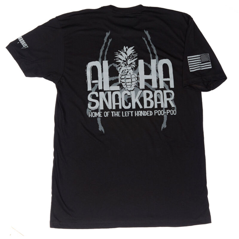 Spike's Tactical Aloha Snackbar Men's Short Sleeve T-Shirt Large Black
