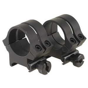 "Weaver Quad Lock Detachable 1"" Aluminum Rings X-High Height Matte Black 49049"