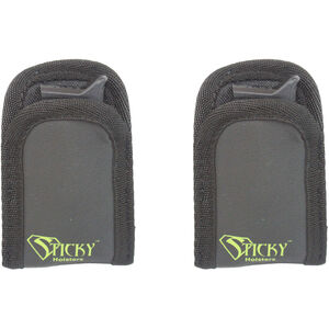 Sticky Holster Mini Mag Sleeve x2 IWB/Pocket Magazine Carrier Fits Compact/Subcompact Single Stack Mag Synthetic Sticky Skin Material Black 2 Pack