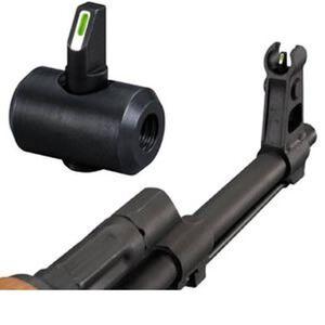 XS Sight Systems Tritium Stripe Front Sight AK/AKM Green Tritium Front Matte Black