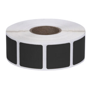 """Action Target Square Target Pasters Roll of 1000 7/8""""Black"""