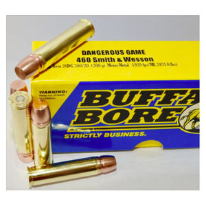 Buffalo Bore Dangerous Game .480 Ruger Ammunition 20 Rounds Mono-Metal Lead Free FN 330 Grain 13DG 330/20