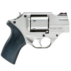 """Chiappa Rhino 200DS .357 Mag Revolver 2"""" Barrel 6 Rounds Black FO Front Sight Rubber Grips Nickel Finish"""