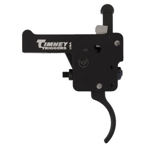 Timney Trigger for Howa 1500/Similar Pattern Clones With Safety Curved Trigger Shoe Adjustable from 1.5 LBS to 4 LBS with 3 LB Default Aluminum Black Finish