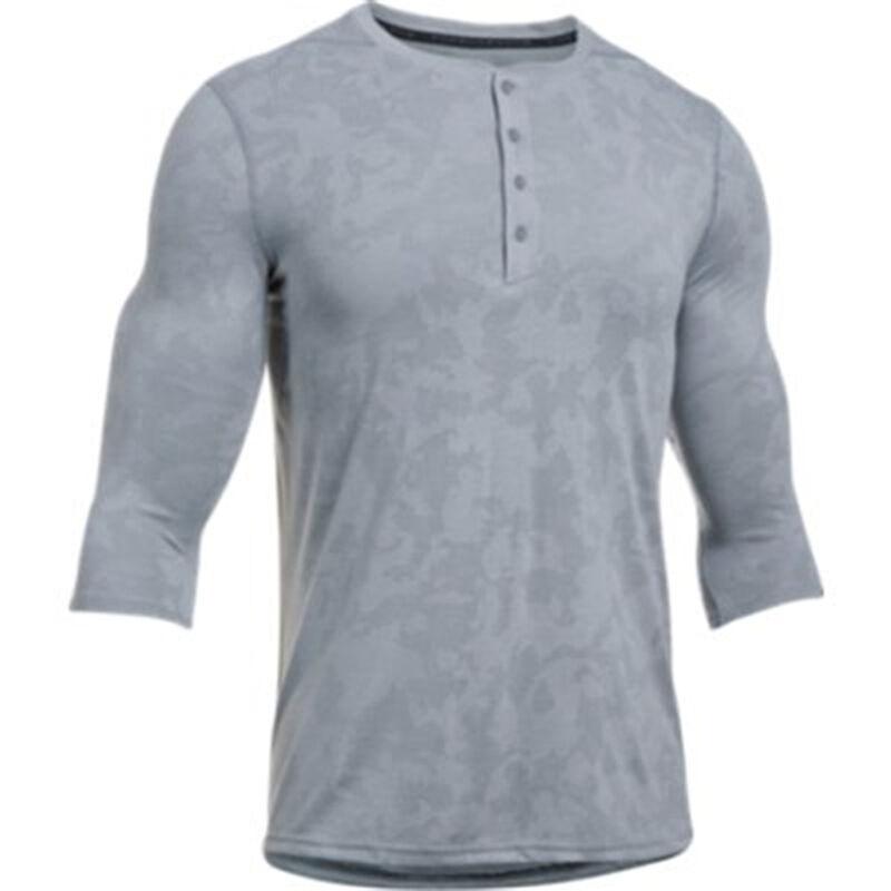 Under Armour Threadborne Utility Henly Men's Long Sleeve Shirt Size XL Bayou Blue/Graphite