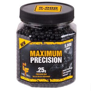 Game Face Maximum Precision 6mm BB, .25g, 5000 Rounds, Black
