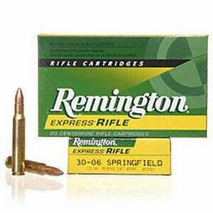 Remington Express .30-06 Springfield Ammunition 20 Rounds 125 Grain Core-Lokt PSP Soft Point Projectile 3140fps