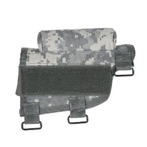 Voodoo Tactical Adjustable Cheek Rest With Detachable Ammo Carrier For Rifle Buttstock Ambidextrous Design Tactical Nylon Army Digital Camouflage Pattern