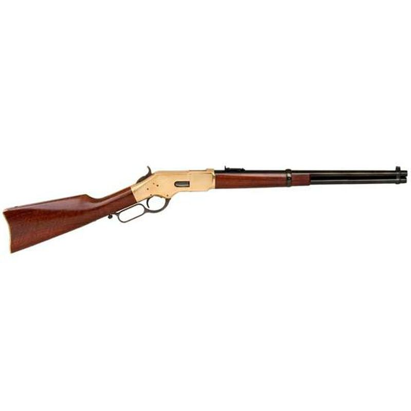 """Cimarron 1866 Yellowboy Lever Action Rifle .44-40 Winchester 19"""" Barrel 10 Rounds Saddle Ring Brass Frame Walnut Stock Standard Blued CA230AS1"""