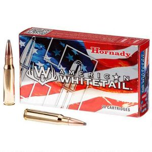 Hornady American Whitetail 6.5 Creedmoor Ammunition 20 Rounds InterLock SP 129 Grains 81489