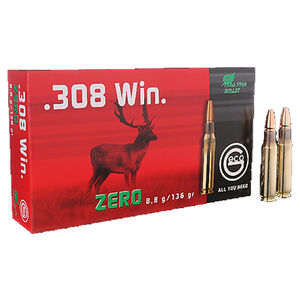 GECO .308 Winchester Ammunition 20 Rounds 136 Grain GECO Zero Lead Free Projectile