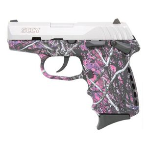 "CPX-1 9mm with Safety 3.10"" Barre, 10 Rounds, Stainless Steel/Muddy Girl"