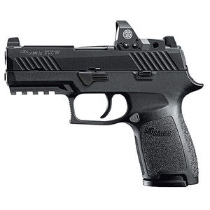 "SIG Sauer P320 Nitron Compact RX Semi Auto Pistol 9mm Luger 3.9"" Barrel 15 Rounds Tall Contrast Sights Romeo1 Red Dot Reflex Sight SIG Rail Modular Polymer Frame/Grip Matte Black Finish"