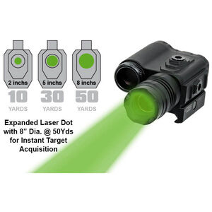 Leapers UTG Instant Target Aiming BullDot Compact Green Laser Output 2.0-4.5mW Class 3R Range 300 Yards CR2 Lithium Battery Bush Button Switch Picatinny/Weaver Mount Aluminum Black SCP-LS289S