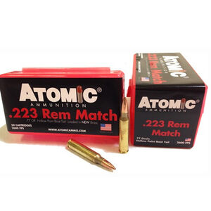 Atomic .223 Rem 77 Grain Match JBTHP 50 Round Box