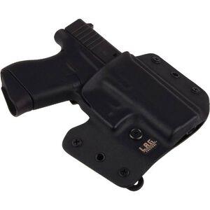 L.A.G. Tactical Defender Series OWB/IWB Holster GLOCK 43 Right Hand Kydex Black