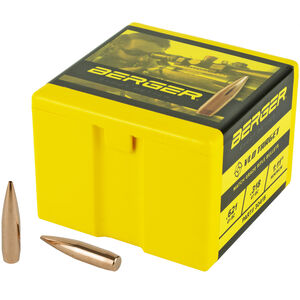 """Berger VLD 30 Caliber Bullets 0.308"""" Diameter 210 Grain Boat Tail Hollow Points 100 Count"""