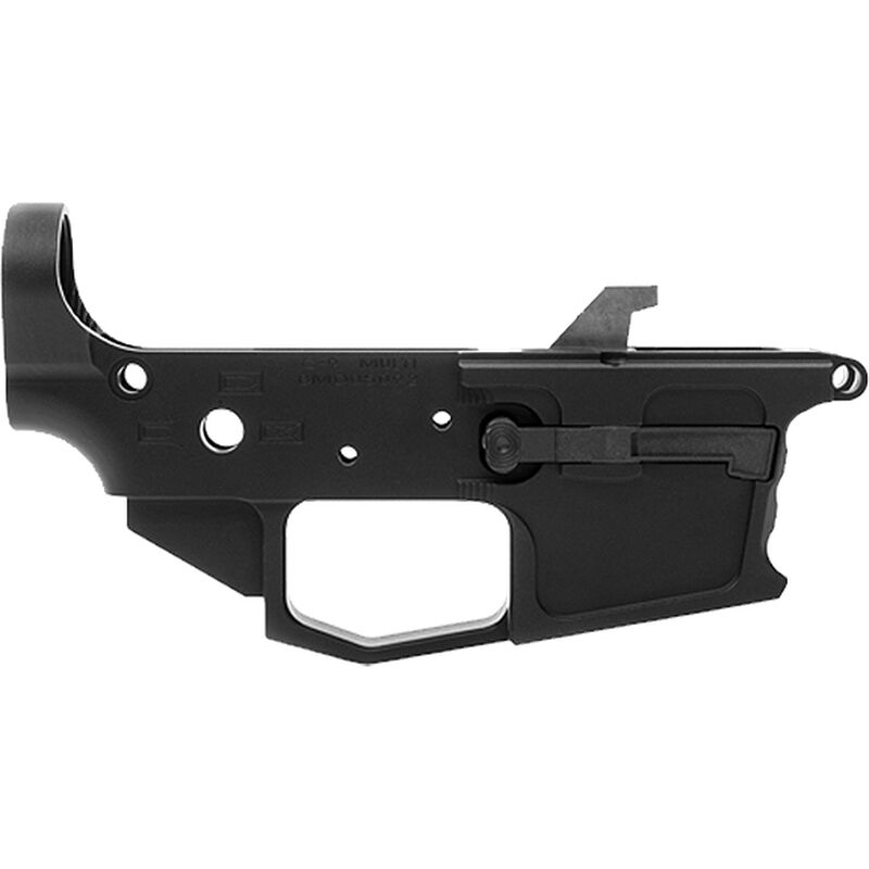 New Frontier C-9 Stripped Lower Receiver 9mm Luger Multi-Caliber Marked Uses GLOCK Style Magazines Billet Aluminum Black