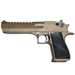"Magnum Research Desert Eagle Mark XIX Semi Auto Pistol .44 Remington Magnum 6"" Barrel 8 Rounds Fixed Combat Sights Weaver Accessory Rail Burnt Bronze Finish"