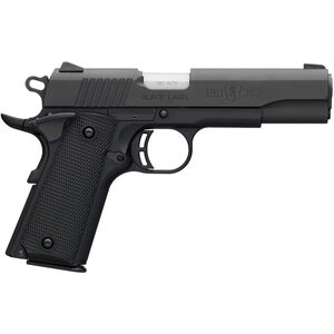 "Browning 1911-380 Black Label .380 ACP Semi Auto Pistol 4.25"" Barrel 8 Rounds Combat Sights Steel Slide Polymer Frame Black Finish"