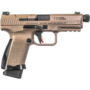 "Century Arms Canik TP9 Elite Combat 9mm Luger Semi Auto Pistol 4.73"" Threaded Barrel 18 Rounds Desert Tan Polymer Frame FDE Cerakote Finish"
