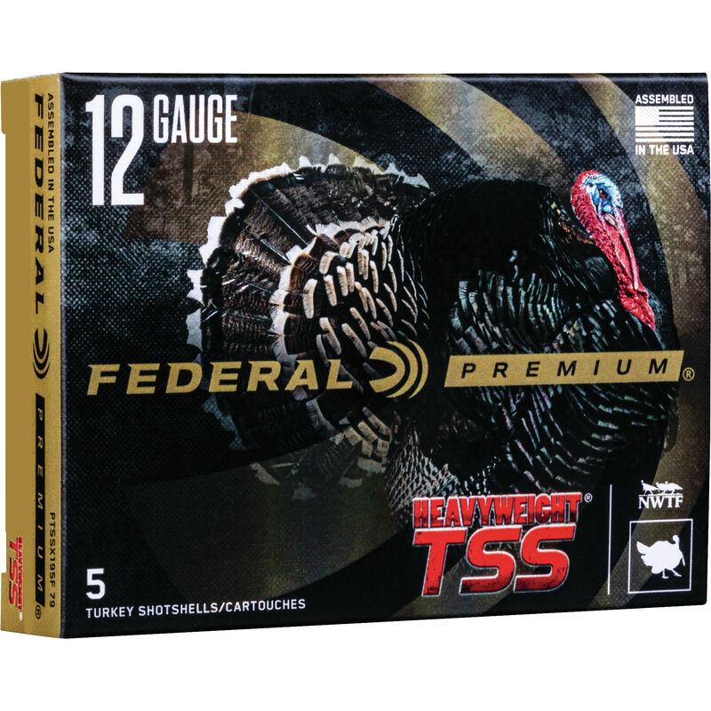 """Federal HEAVYWEIGHT TSS 12 Gauge Ammunition 5 Rounds 3-1/2"""" Shell #7/#9 Combo Tungsten Shot 2-1/2 Ounce 1200fps"""