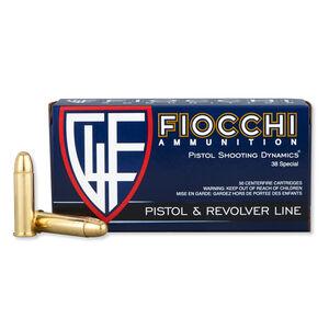FIOCCHI .38 Special Ammunition 50 Rounds FMJ 130 Grains 38A