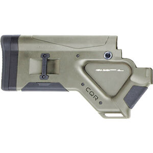 HERA USA CQR Stock AR-15 Replacement Fixed Stock California Compliant Mil-Spec Polymer OD Green