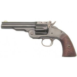 "Cimarron Model 3 Schofield Single Action Revolver .45 Colt 5"" Barrel 6 Rounds Walnut Grips Blue CA855"