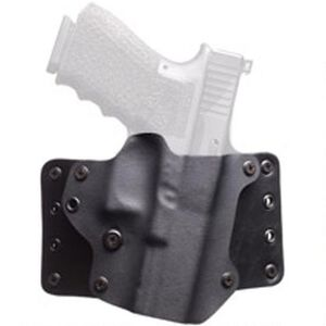 BlackPoint Leather WING OWB Holster GLOCK 17/22/31 Right Hand Leather/Kydex Hybrid Black