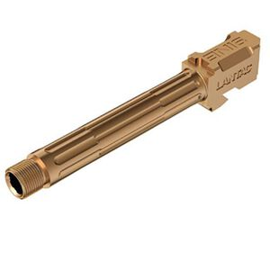 Lantac 9INE Drop In Match Barrel For GLOCK 17 9mm Luger Fluted/Threaded Stainless Bronze 01-GB-G17-TH-BRNZ