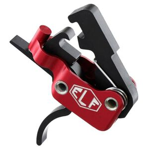 Elftmann Tactical ELF-SE AR-15 Trigger Standard Small Pin Curved Trigger Shoe 3.5lb Non Adjustable Trigger Pull Ultra Light Red Hosing Black Trigger